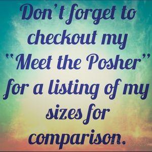 Meet the Posher Sizes